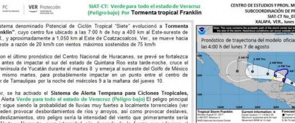Alerta Verde para todo Veracruz